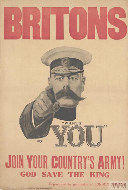 British recruitment poster, 1914.