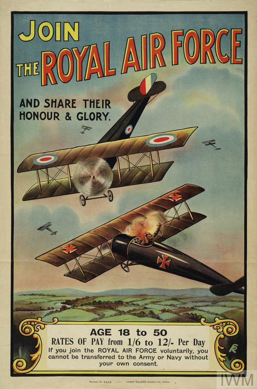 First World War recruitment poster for the Royal Air Force