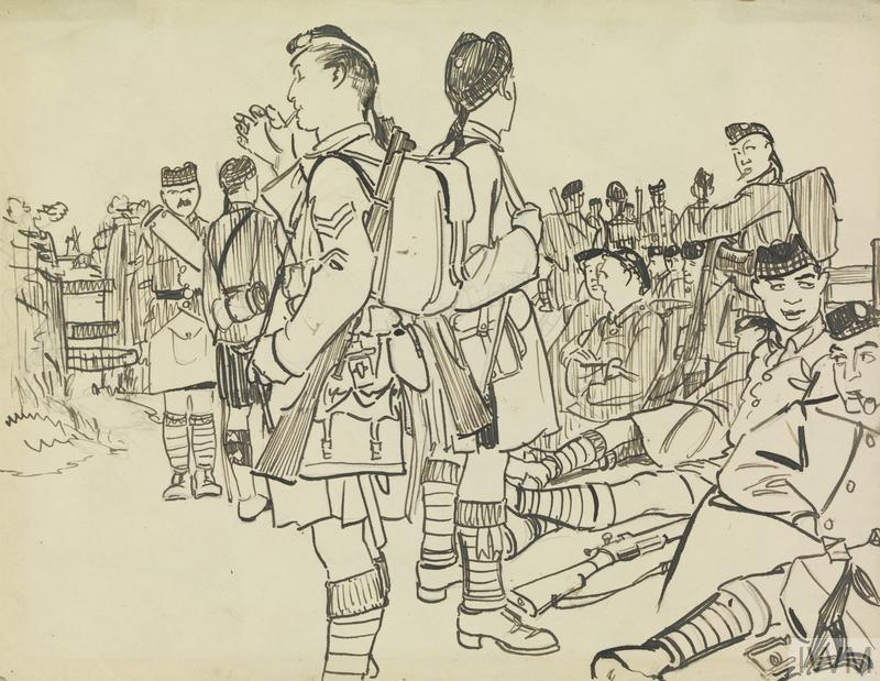 The Liverpool Scottish in Training, 1916