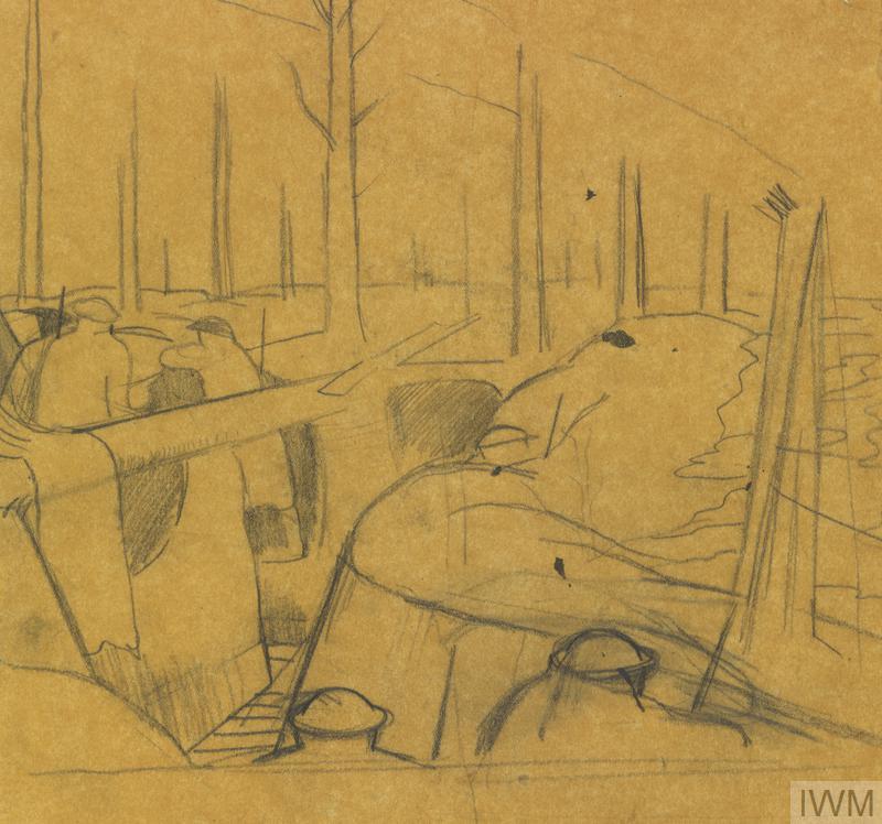 Studies for Oppy Wood, 1917. (NO 2243)
