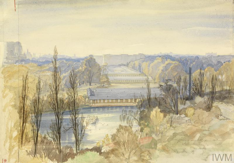 St James' Park : Temporary Government buildings. From the Foreign Office.