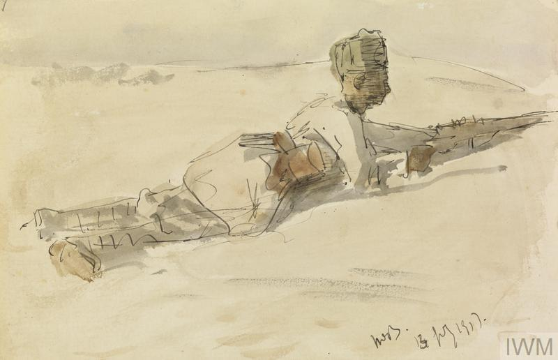 A Desert Sentry : one of the Lancers on the listening post