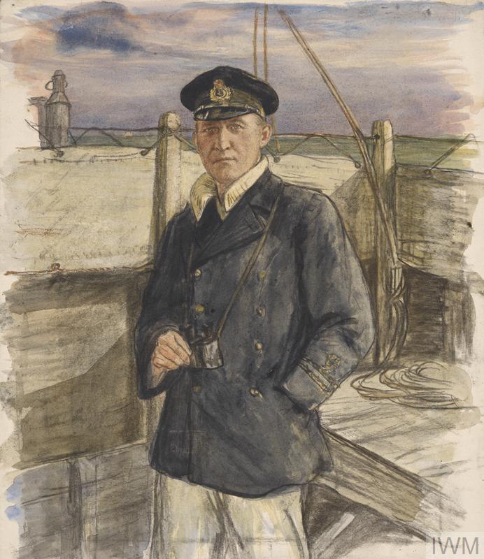 A Lieutenant on the Bridge, HM Trawler : (Lieut G MacColl Smith, RNR)