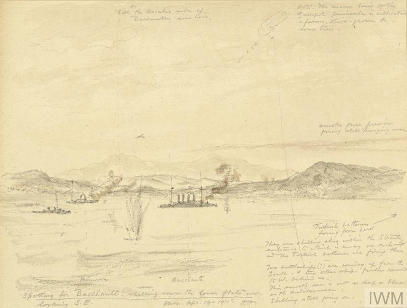 Gallipoli - Preliminary Bombardments and Reconnaissances - Same Action Continuing, April 19th 1915