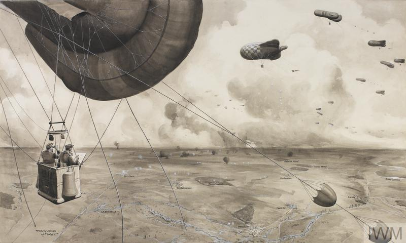 Observation Balloons In France During The Somme Offensive Of 1916