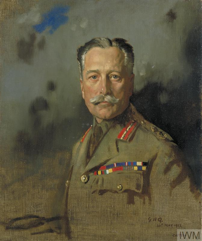 Field-Marshal Sir Douglas Haig, KT, GCB, GCVO, KCIE, Commander-in-Chief, France, From December 15th 1915. Painted at General Headquarters, May 30th 1917