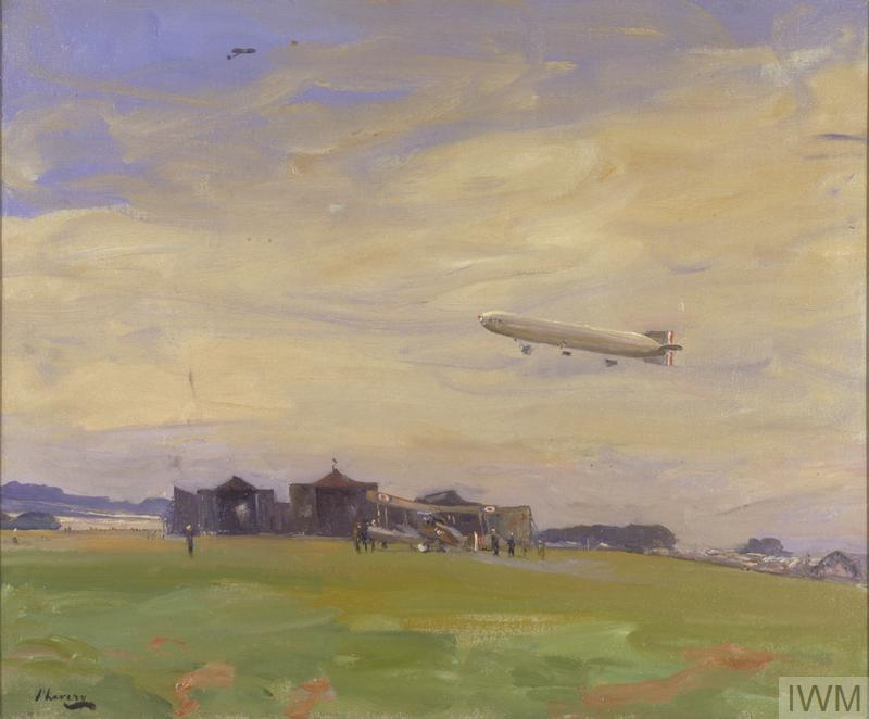 The Aerodrome, East Fortune, North Berwick, 1918. The starting-point for British airships of the North Sea Air Patrol