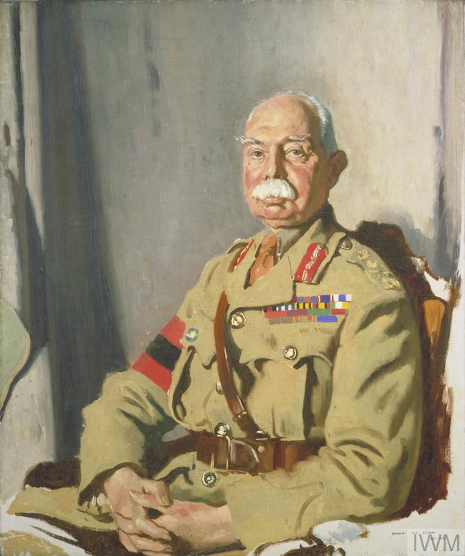 General Sir Herbert C O Plumer, GCMG, GCVO, KCB, painted at Headquarters, Second Army, 1918