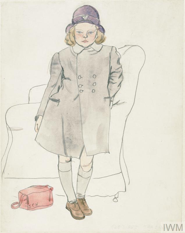 Evacuees in Leamington Spa: Unidentified Girl