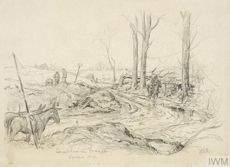 First World War Sketchbook Volume 1 -  Somewhere in France, Somme 1916