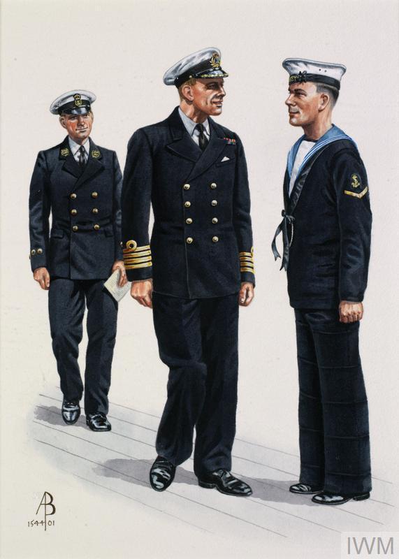 royal navy 1939  master at arms  captain  leading seaman