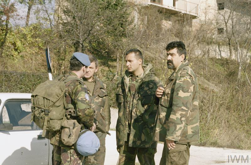 1st Battalion Royal Highland Fusiliers on a combined foot patrol in Novi Travnik.