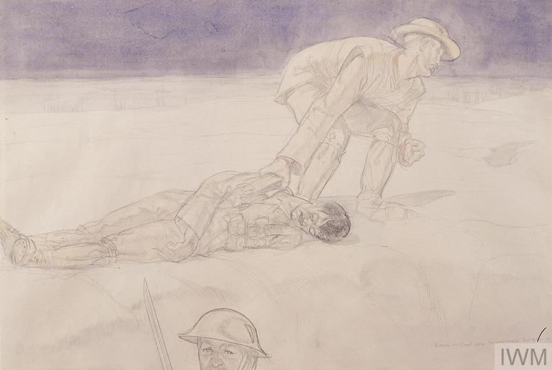 A Soldier's Burial in the Snow, the Front Line, Passchendaele, Boxing Day 1917