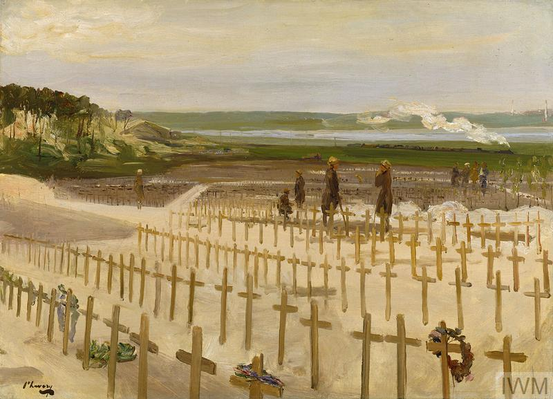 The Cemetery, Étaples, 1919 by John Lavery