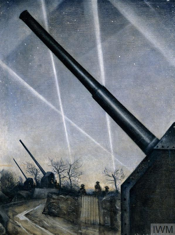 Anti-Aircraft Defences, 1940, by C R W Nevinson.