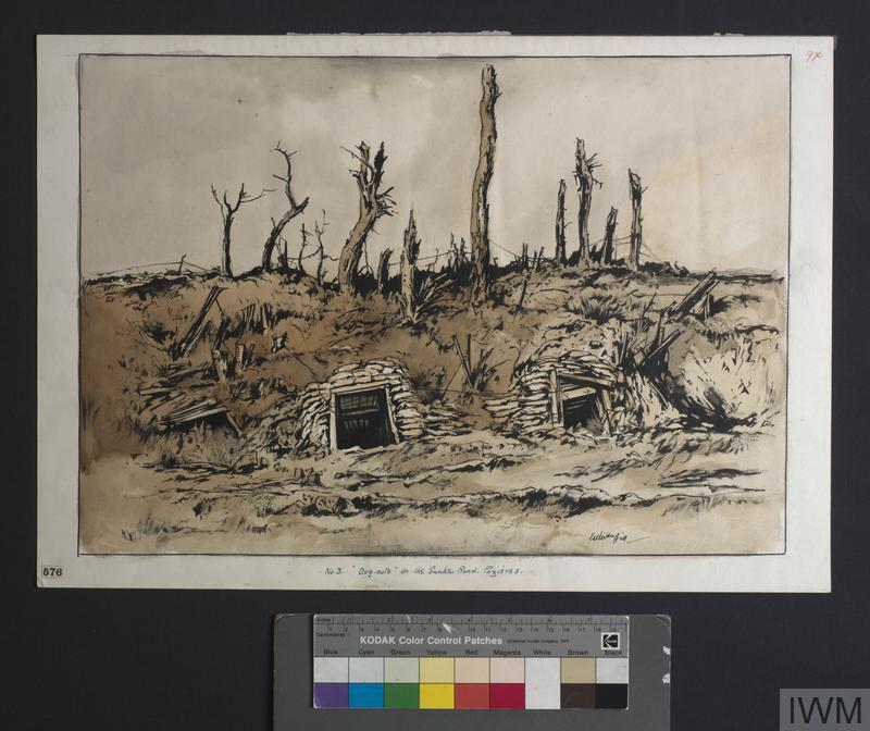 Dug-outs : in the Sunken Road, Pozières