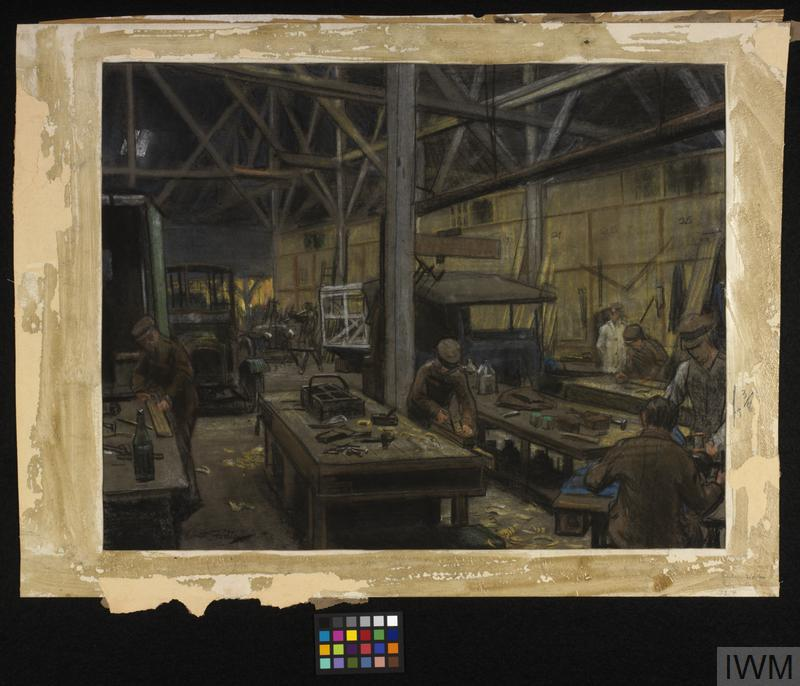 the interior of a garage boulogne imperial war museums. Black Bedroom Furniture Sets. Home Design Ideas