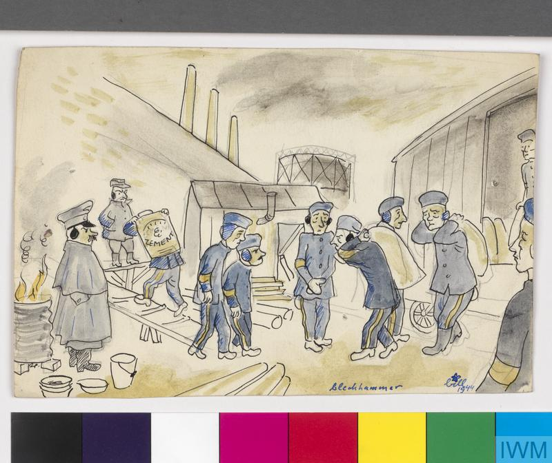 Prisoners Carrying Cement, 1944, Bill (Wilhelm) Spira