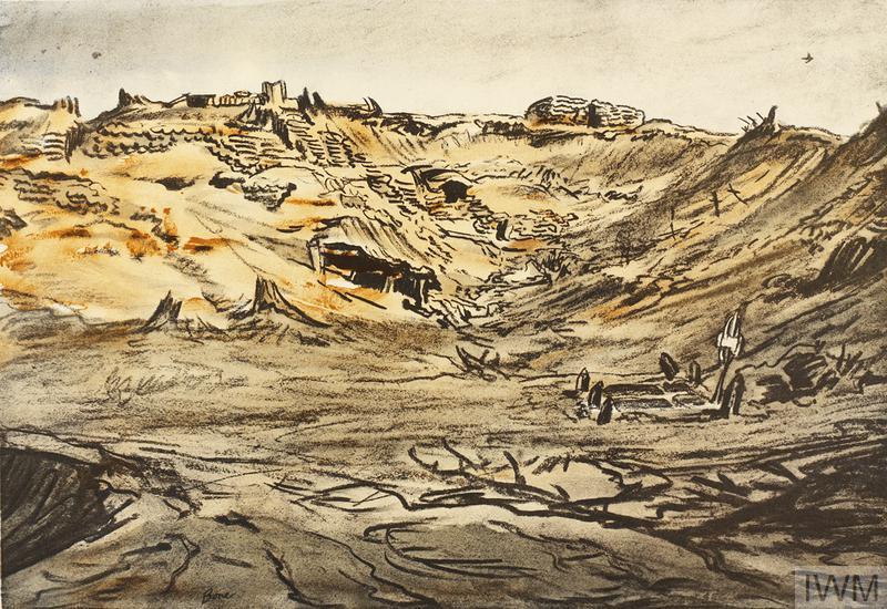 War Drawings By Muirhead Bone: The Quarry near Mouquet Farm