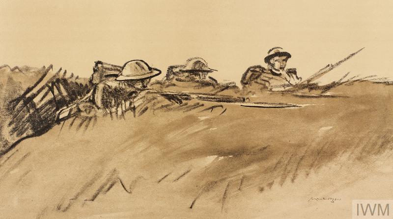 War Drawings By Muirhead Bone: Welsh Soldiers   Imperial ...