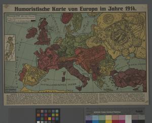Karte Von Europa 1914.Humoristische Karte Von Europa Im Jahre 1914 Imperial War Museums