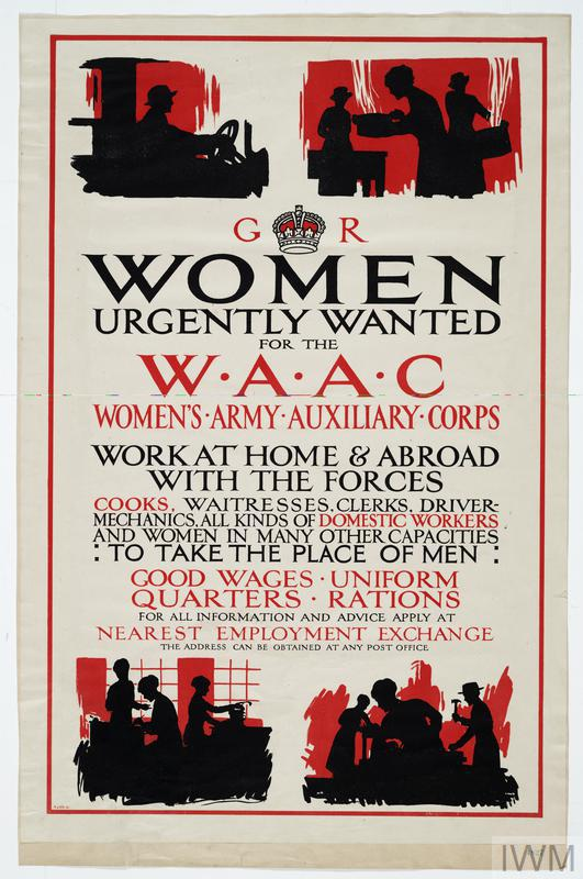 WOMEN URGENTLY WANTED FOR THE W.A.A.C.