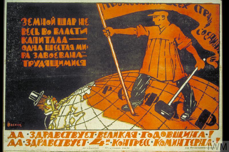 [Up with the great anniversary! Up with the 4th Congress of the Comintern!]