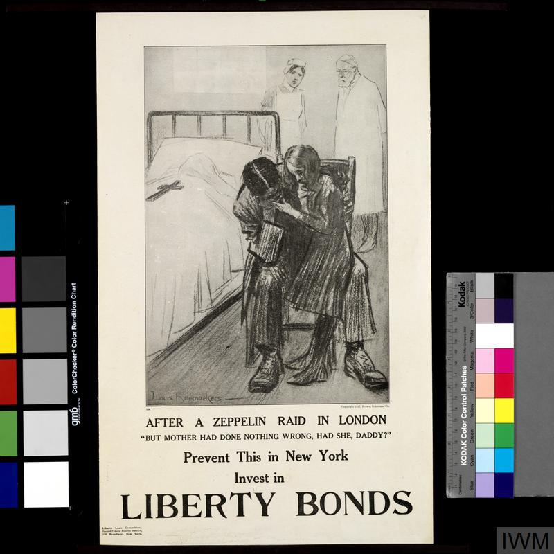 After a Zeppelin Raid in London - Prevent This in New York - Invest in Liberty Bonds