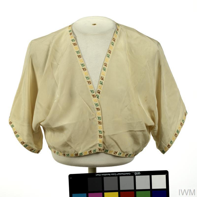 bedjacket, handmade, British, Far East Civilian Internee
