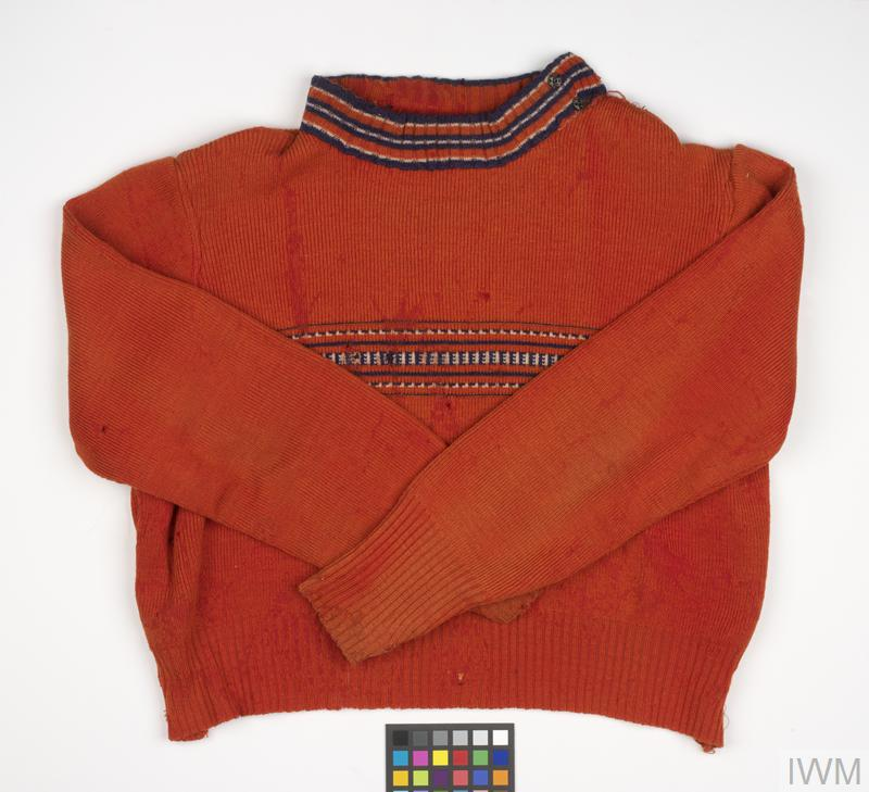 Jumper worn by Jochewet Heidenstein, 1939.