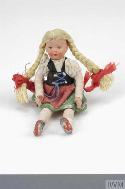 Austrian doll taken by Inga Pollak on a Kindertransport in 1939.