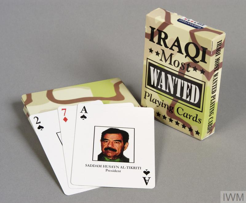 'Iraq's most wanted' playing cards, 2003