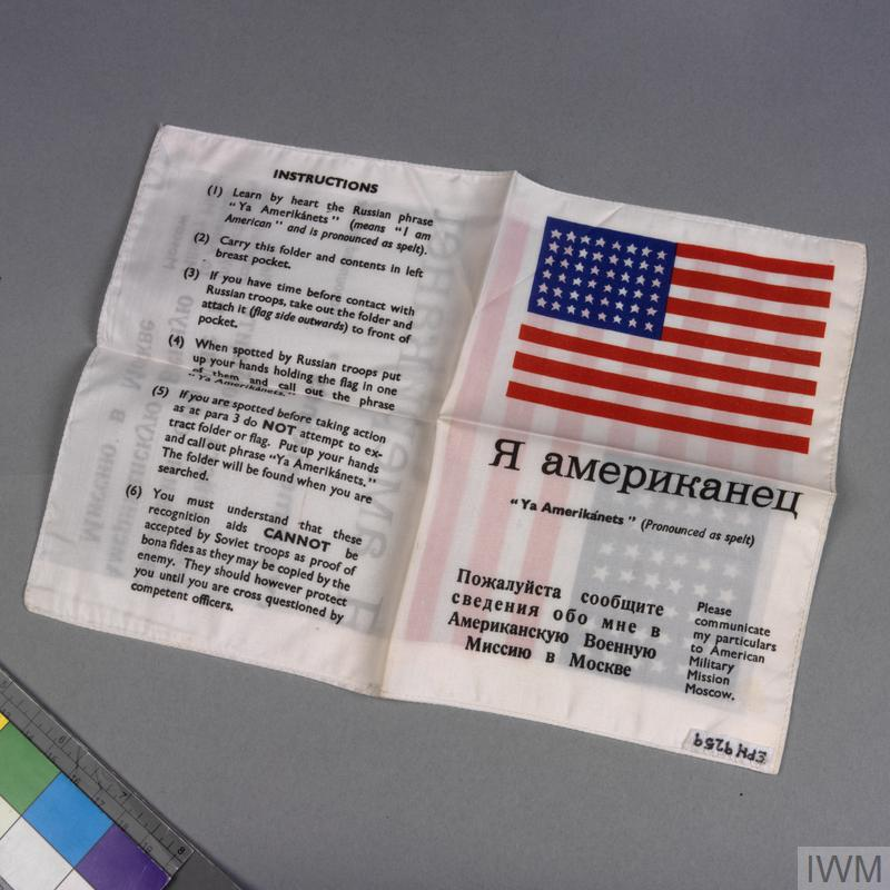 blood chit, USA   Imperial War Museums