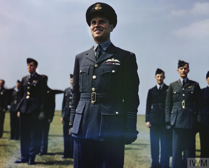 THE VISIT OF HM KING GEORGE VI TO NO 617 SQUADRON (THE DAMBUSTERS) ROYAL AIR FORCE, SCAMPTON, LINCOLNSHIRE, 27 MAY 1943