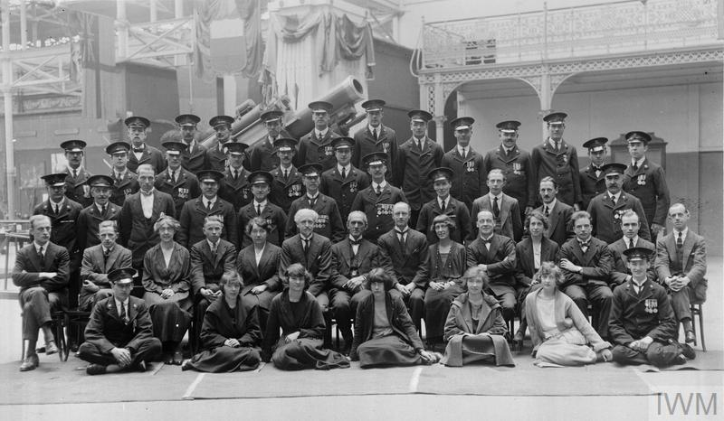 The staff of the Imperial War Museum taken shortly after the Museum first opened to the public at Crystal Palace, London.