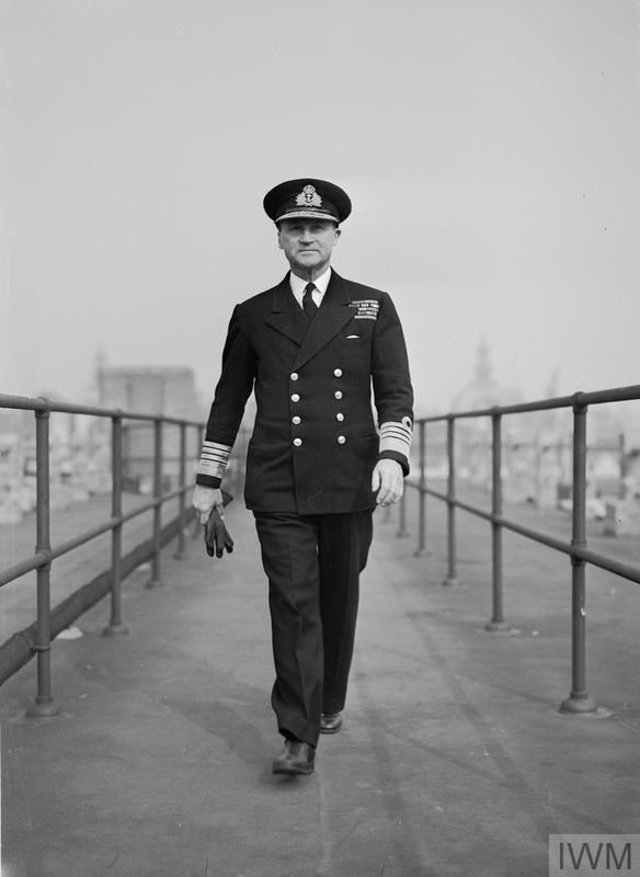 Admiral Sir Bertram Ramsay KCB MVO Allied Naval Commander-in-Chief of the Expeditionary Forces, photographed at his London Headquarters at Norfolk House.