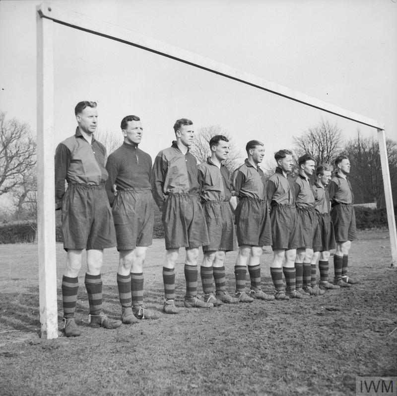 Bolton Wanderers players photographed after joining the army, February 1941.