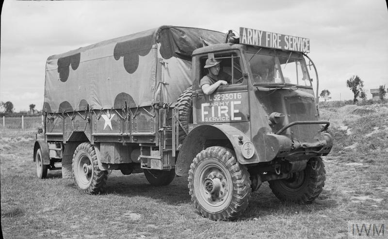 THE BRITISH ARMY FIRE SERVICE IN NORMANDY, 1944