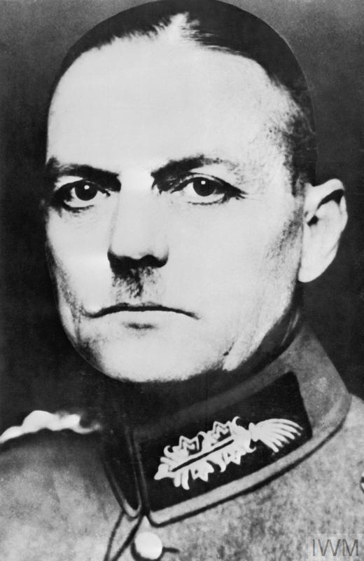 Generalfeldmarschall Gerd von Rundstedt who commanded the invasion of Poland, the Low Countries, France and Russia. Later he was made Commander-in-Chief, West and was responsible for the defence of Hitler's 'Fortress Europe'.