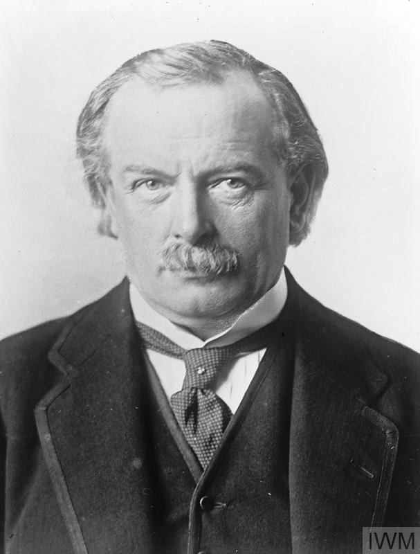 Portrait of David Lloyd George.