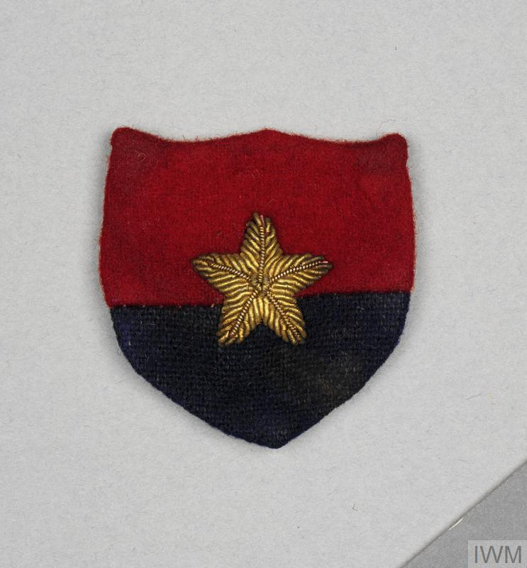 badge, formation, Indian, GHQ India, officers