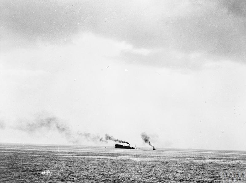 THE SINKING OF THE CUNARD LINER SS LANCASTRIA OFF ST NAZAIRE