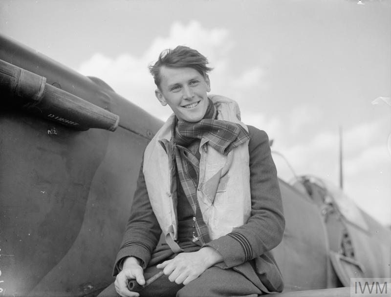 Flight Lieutenant Colin H Macfie of No. 616 Squadron, Fowlmere, September 1940.