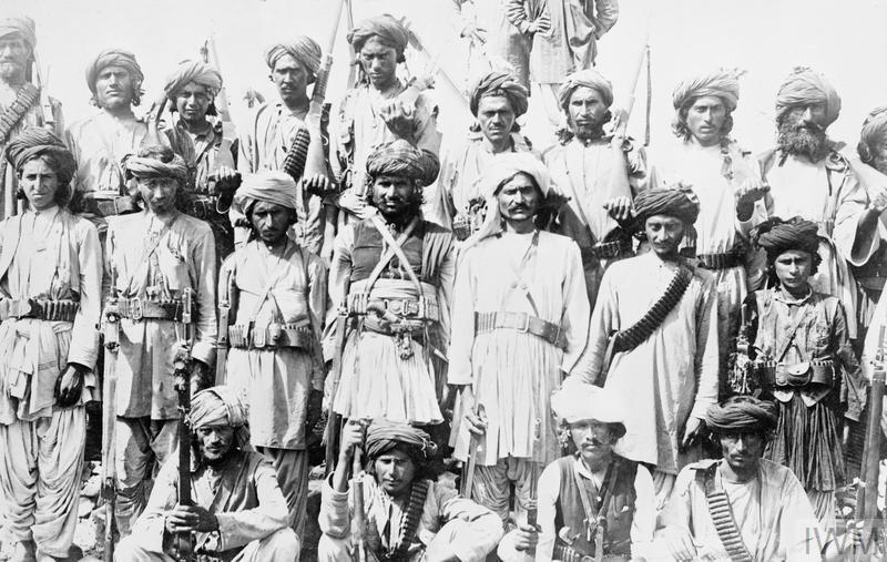 Members of a Wazir Khassadar at Miranshah, India
