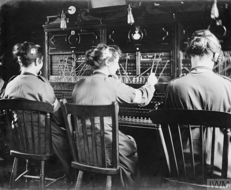 Queen Mary's Army Auxiliary Corps (QMAAC) working the telephone exchange at No. 4 Rest Camp, Henriville.