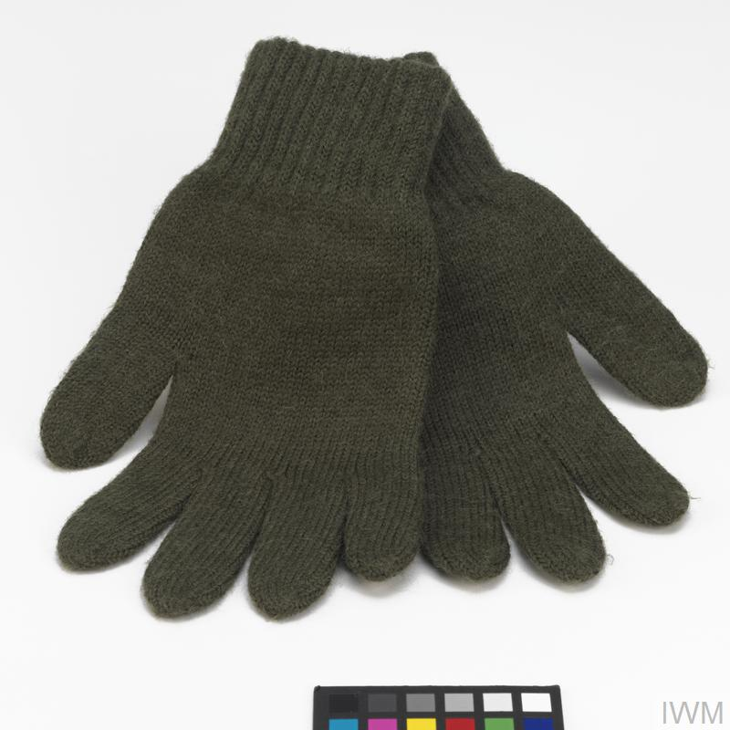 Gloves, knitted: British Army