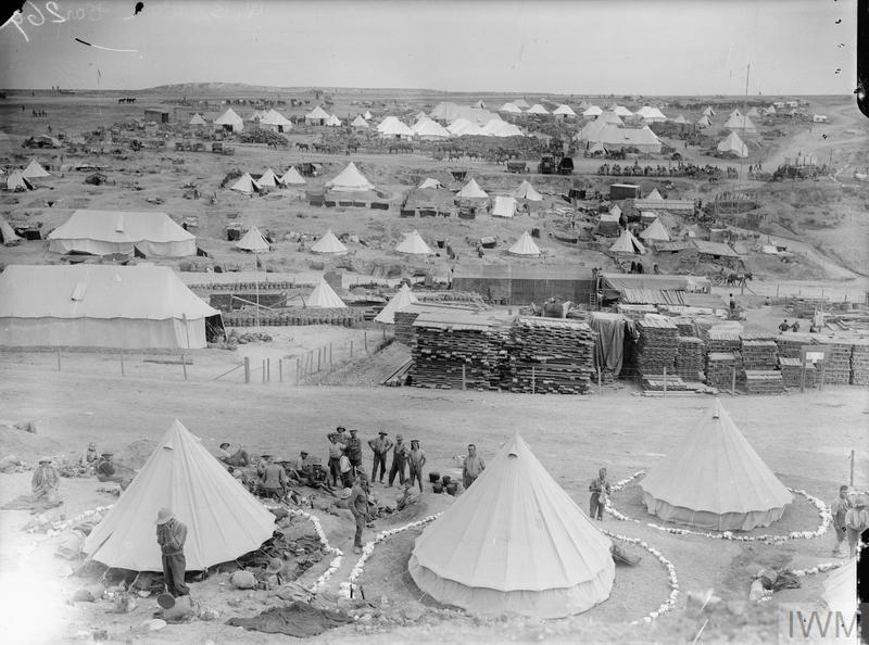 British camp at W Beach (Lancashire Landing), Cape Helles.