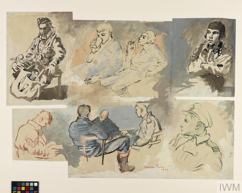 Studies of Bomber Crew at Interrogation, 3am