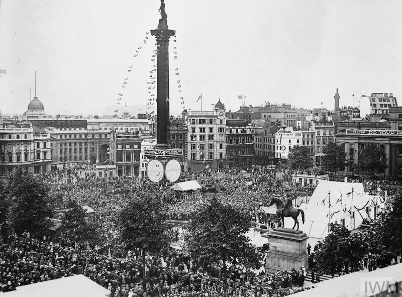 View of Trafalgar Square during Joy Loan Campaign.
