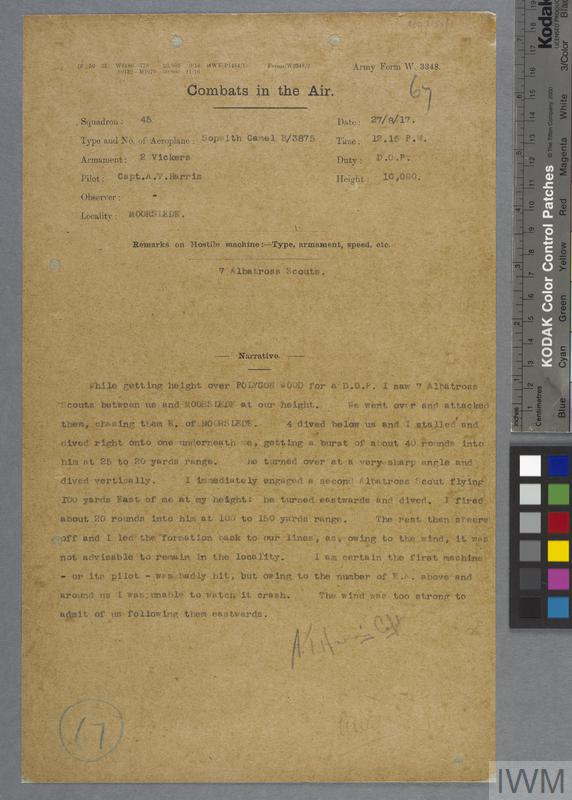 RFC and RAF Combat Reports, First World War | Imperial War